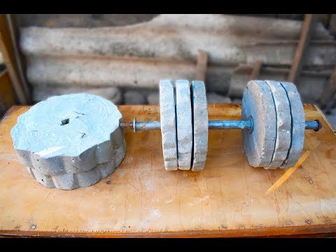 How to Make Homemade Dumbbells/HOW TO MAKE A DUMBBELL