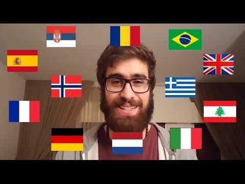 Polyglot speaking in 12 languages [SUBTITLES]