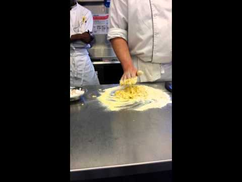 NECAT Making Egg Pasta Ravioli Duck Confit Part 2 of 4