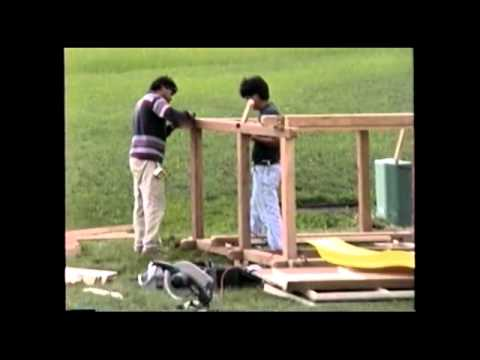 Building the Housh swing set and back porch