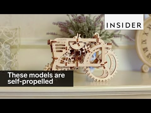 These wooden models move by themselves
