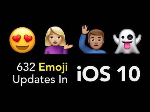 632 Emoji Updates in iOS 10