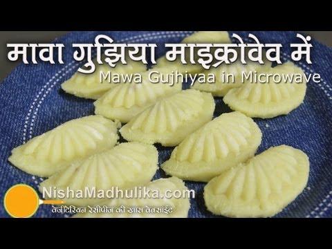 Mawa ki Gujiya - Khoya Gujhiya Recipe in Microwave
