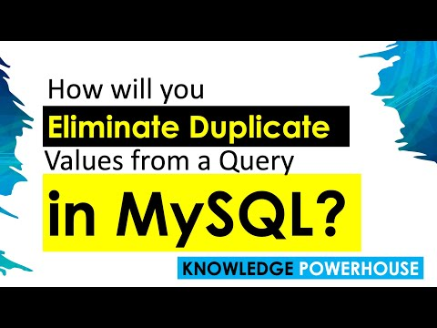 How will you eliminate duplicate values from a query result in MySQL?