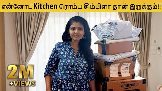 Organizing My Kitchen with new products | Kitchen Vlog | Hema's Diary