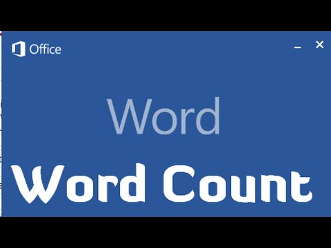 How to show Word Count in Microsoft Office Word 2013