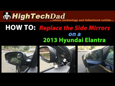 How to Replace 2013 Hyundai Elantra's Side Mirror #DIY #HowTo