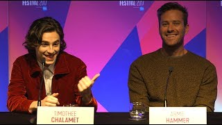 Timothée Chalet & Armie Hammer FULL PRESS CONFERENCE Call Me By Your Name