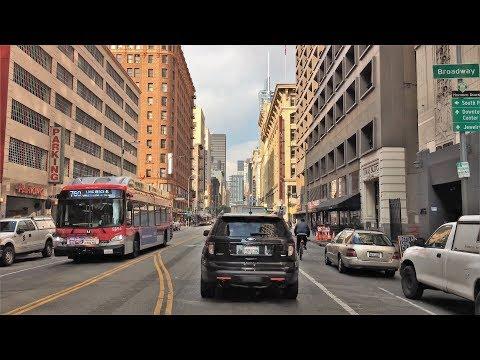 Driving Downtown 4K - LA's Architecture - Los Angeles USA