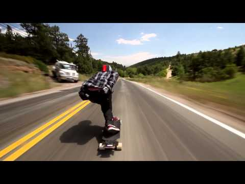 Longboarder soars down Colorado hill at 70mph!
