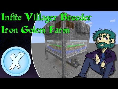 Infinite Villager Breeder Iron Golem Farm [1.12]