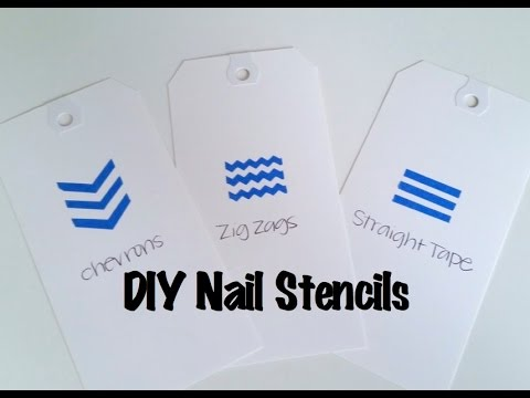How to make your own nail stencils using painter's tape