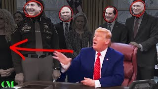 Laughter When Trump Slams Reporter With THE SAME QUESTION 8 TIMES over Shutdown!