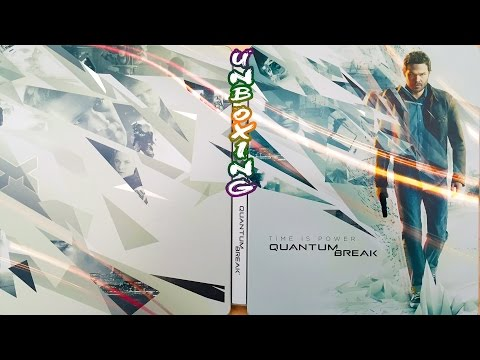 Quantum Break Limited Edition GameStop Tin Case Unboxing