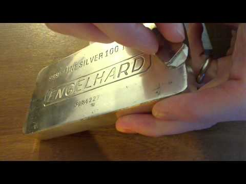 Magnet Test on a Real and Fake Engelhard 100oz Silver Bar