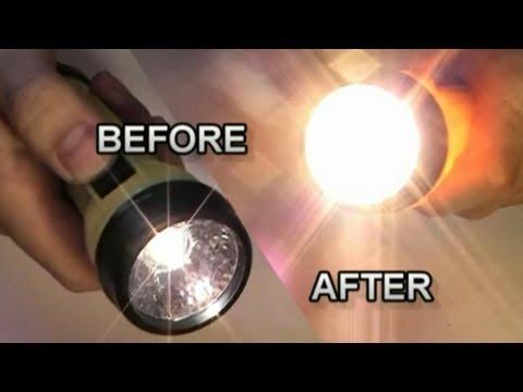 Flashlight Makeover Using Halogen Lamp