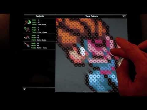 Perler Bead Sprite Pattern Generator (Hama) -- Bead It! HD v1.1 for iPhone / iPad