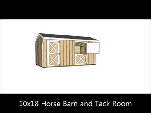 Small Horse Barn Plans