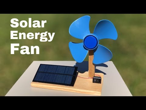 How to Make Solar Powered Electric Fan - DIY