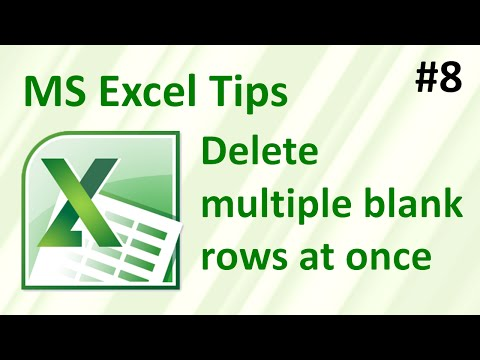 How to delete multiple blank rows in Excel