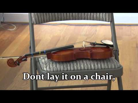 Stuff you should not do to a violin, viola or cello