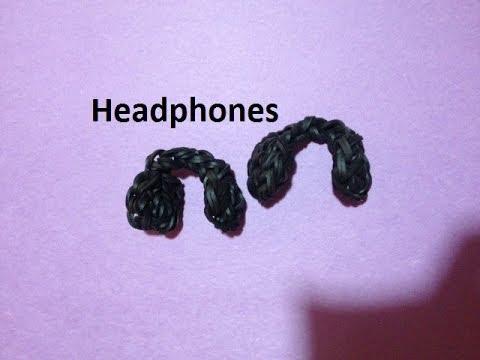 How to Make a Headphones Charm on the Rainbow Loom - Original Design