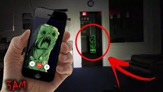 CALLING A MINECRAFT CREEPER ON FACETIME AT 3 AM!! (IT BLEW US UP!)