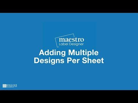Adding Multiple Designs Per Sheet - Maestro Label Designer