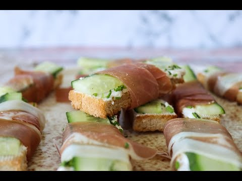 Crispy Breadsticks Cucumber Sandwich Style - Easy Snack - By One Kitchen