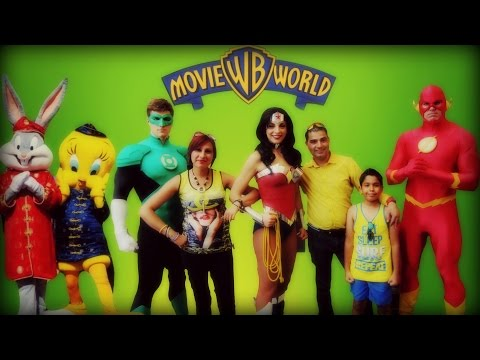 Movie World  Overview With Highlights Parade- Theme park in Gold Coast, Australia- 4K (2016)
