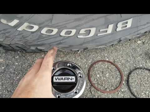 2003 F250 Superduty Locking Hub Replacement with WARN Hubs.