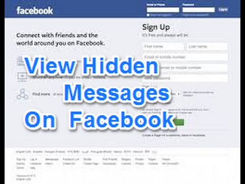 How to View facebook hidden inbox messages