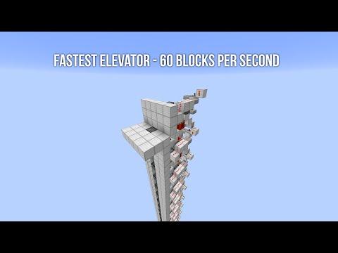 [BROKEN IN 1.11] Fastest Elevator in Minecraft - 60 Blocks Per Second!