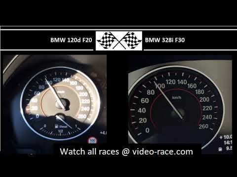 BMW 120d F20 VS. BMW 328i F30 - Acceleration 0-100km/h