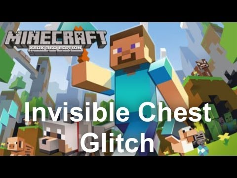 *NEW* Minecraft Glitch- How to Make an Invisible Chest!