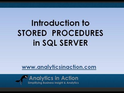 Stored Procedures in SQL Server