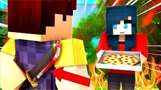 HELLO NEIGHBOR - DISGUISING AS A PIZZA WORKER! KILLER FIGURES OUT!?  (Minecraft Roleplay)