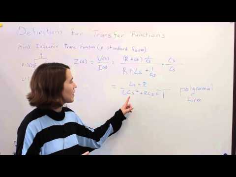 Intro to Control - 4.1 Definitions for Tranfer Functions