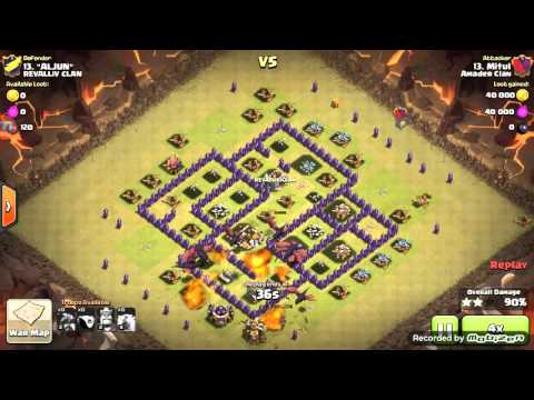 2 Level 5 Air Defense at once with 3 Level 4 Lightning Spell Clash of Clans