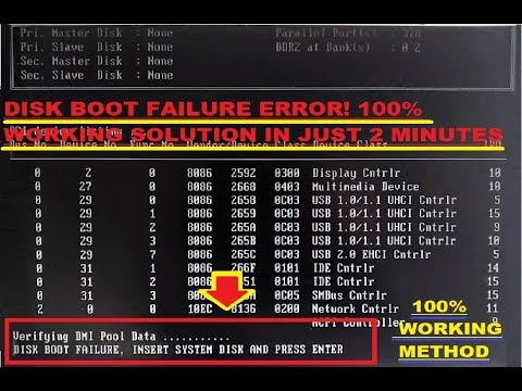Disk Boot Failure Enter System....Problem_Error!! 100% Solution In Just 2 Minutes - WebTech360*