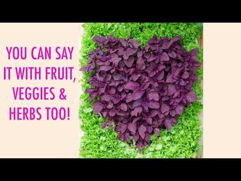 Valentine Gardening Present: Flowers and Vegetables