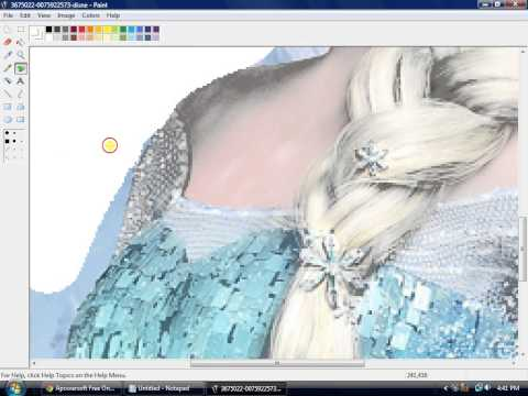 How to change the background of the image using Mspaint (easy)