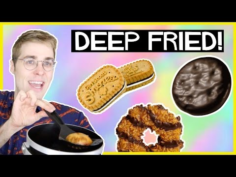 DEEP FRIED GIRL SCOUT COOKIES!
