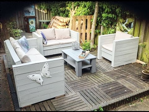 Patio furniture ideas with pallets