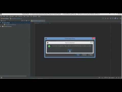 Integrating PyCharm with Git