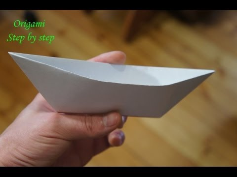 Step by step origami for beginners Boat
