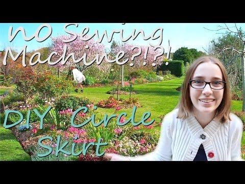 NO SEWING MACHINE REQUIRED?!?! *DIY circle skirt*