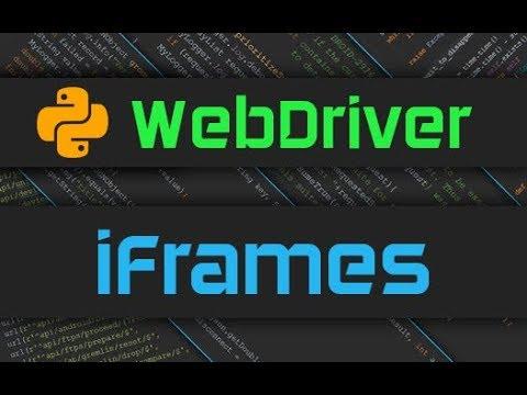 Selenium Webdriver - iFrames