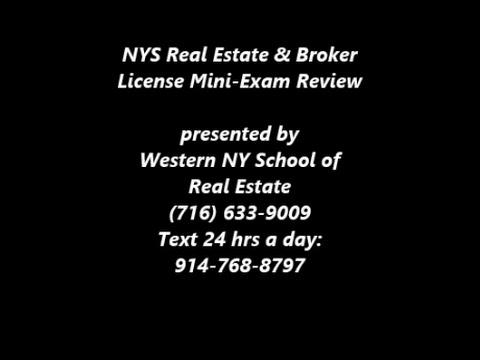 NYS Real Estate Sales & Broker Exam Review