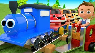 Little Baby Fun Learning Colors for Children with Toy Cars Toy Train Transporter 3D Kids Educational